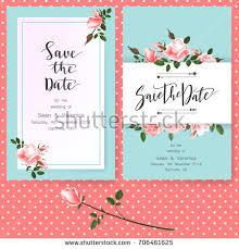 invitation greeting save date card wedding invitation greeting stock vector 707262544