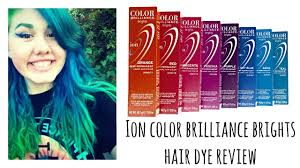 ion haircolor pucs ion color brilliance brights hair dye review youtube