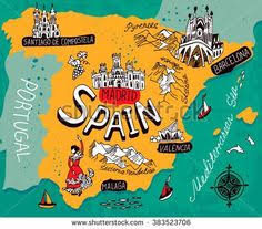maps of spain food map oceansworld international food guide