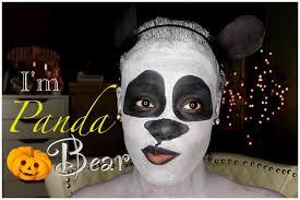 bear halloween mask fun panda bear halloween makeup tutorial youtube