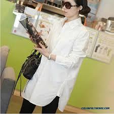 womens cotton blouses cheap plus velvet sleeved white shirt large size