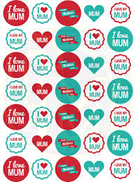 mothers day stickers mothers day stickers 37mm paper rounds craft party bags sweet