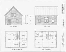 small two story cabin plans post beam house plans and timber frame drawing packages by