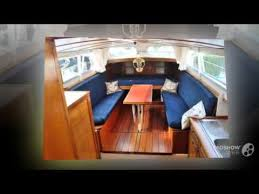 Power Boat Interiors Doerak 1100 Ok Ak Power Boat Trawler Year 1965 Youtube