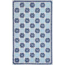Country Hooked Rugs Country Living Hand Hooked Blue Bouche Medallion Pattern Wool Rug