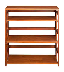 stackable bookcases solid wood bookcase 3tierfoldingbookcaseoak beautiful folding stackable