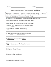 following directions proper nouns worksheet places to visit