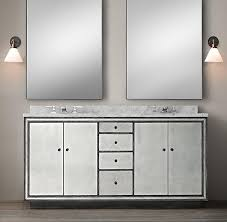 Dual Vanity Sink Border Strand Mirrored Double Vanity Sink