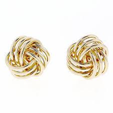knot earrings anzor jewelry 14k yellow gold strand knot earrings