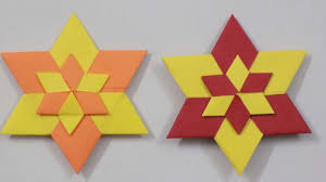 diy how to make multi color christmas star paper folding diy