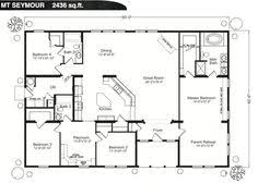 4 bedroom house blueprints ranch house floor plans 4 bedroom this simple no watered