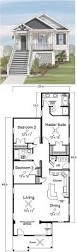 narrow lot beach house plans planskill minimalist for small hahnow