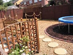 trampoline landscaping ideas the backyard pinterest