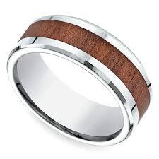 rosewood inlay men u0027s wedding ring in cobalt