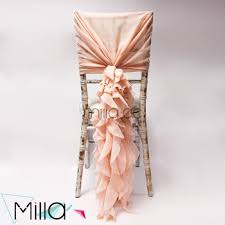 curly willow chair sash ruffle blush chiffon chair cover chiffon chair sash for