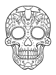 free printable day of the dead coloring pages skull