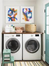 Countertop Clothes Dryer Countertop Above Washer Dryer Transitional Laundry Room Hgtv