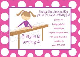 gymnastics birthday party invitation wording vertabox com