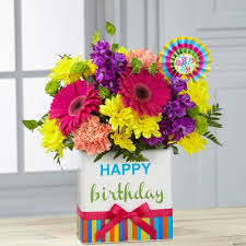 flowers birthday ftd birthday brights bouquet ital florist toronto