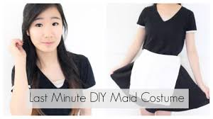 diy last minute maid halloween costume youtube