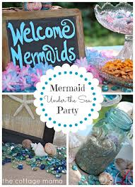 the sea party mermaid the sea 4th birthday party with free printable the