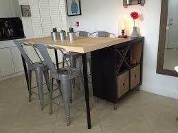 transformer une table de cuisine 2 en 1 îlot de cuisine ikea et table pas cher en diy ikea hack