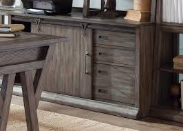 Distressed Computer Armoire by Computer Credenza In Distressed Wood Finish By Liberty Furniture