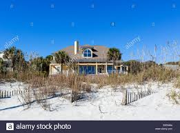 typical beachfront house at the northern end of myrtle beach
