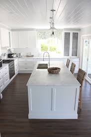 white kitchen cabinets with vinyl plank flooring georgica pond flooring easylock resilient plank