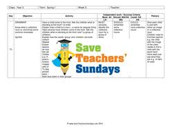 collective nouns lesson plan worksheets and plenary activity by