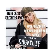 black friday in july the kylie cosmetics black friday in july sale bundle 2 matte lipkits
