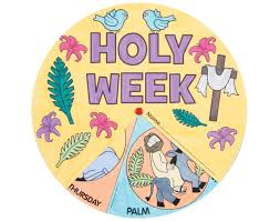 12 holy week colour in wheel kids christian easter crafts