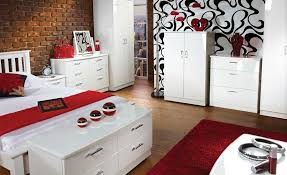 Bari White High Gloss Bedroom Furniture - White high gloss bedroom furniture set