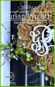 spring burlap wreath diy stonegable