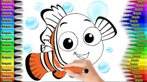 coloring pages little fish u0026 drawing nemo to color for kids