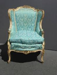 Turquoise Accent Chair Details About Vintage French Provincial Carved Mauve Striped