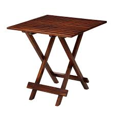 solid wood square folding rustic garden table