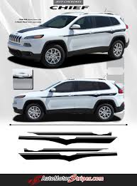 2014 2017 jeep cherokee chief mid body line accent vinyl decal