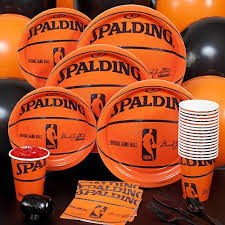 basketball party supplies spalding basketball party pack basketball birthday