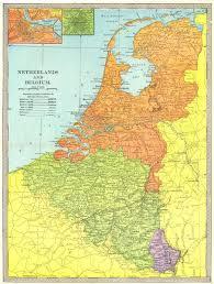 map netherlands belgium netherlands belgium luxembourg amsterdam brussels inset 1907