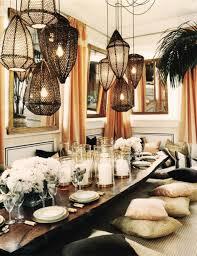 alluring modern bohemian interior design for dining room ideas