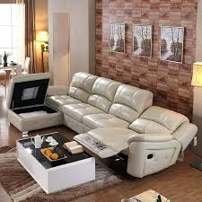 Big Leather Sofas L Shape Modern Extend Bonded Leather Sofa Set For Big Living Room