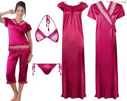 ladies satin lace long nightdress ladies nightie pyjama set robe