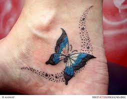 butterfly foot tattoos only tattoos