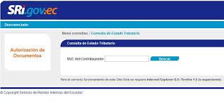 lista blanca sri ecuador consultar estado tributario o lista blanca del sri