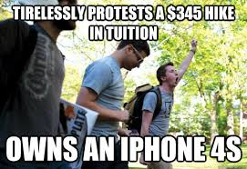 Iphone 4s Meme - tirelessly protests a 345 hike in tuition owns an iphone 4s