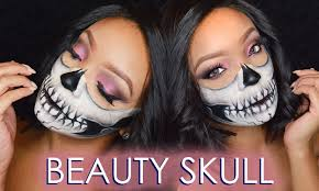 halloween beauty skull make up tutorial youtube