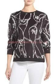 women kensie print sweatshirt sweaters sketched bird nzd61 94