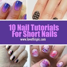 10 nail tutorials for short nails