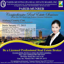 comprehensive real estate seminar and review in alabang 2015 the